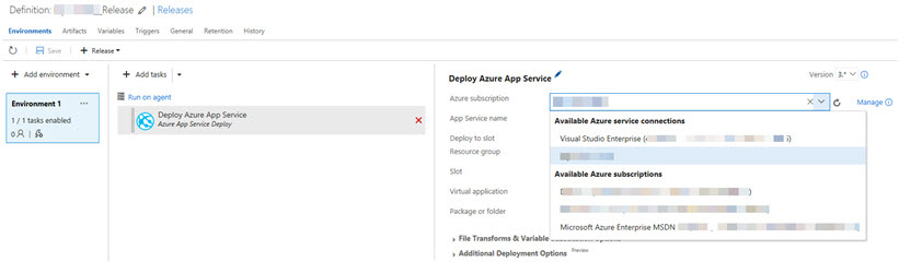 Creating a Service Principal for VSTS endpoint